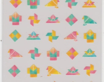 Origami Stickers - Masking Tape Stickers - Mind Wave - Reference H2535