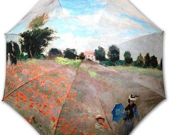 Umbrella Rod - painter MONET: Field of poppies
