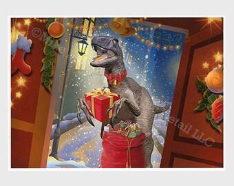 Funny Christmas Card, Funny Holiday Card, Greeting Card, Dinosaur, Jurassic Park, Jurassic World, Best Friend, Child, Boyfriend, Girlfriend
