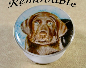 Chocolate Lab Cell Phone Grip Skin, Labrador Retriever Phone Stand Decal, Chocolate Lab Phone Holder Skin, Chocolate Lab Gifts
