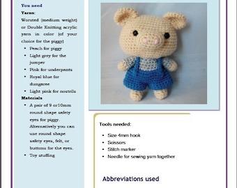 PDF Amigurumi Pattern: Piggy