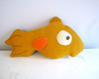 Cat and Fish Turnover Doll Pattern Printable