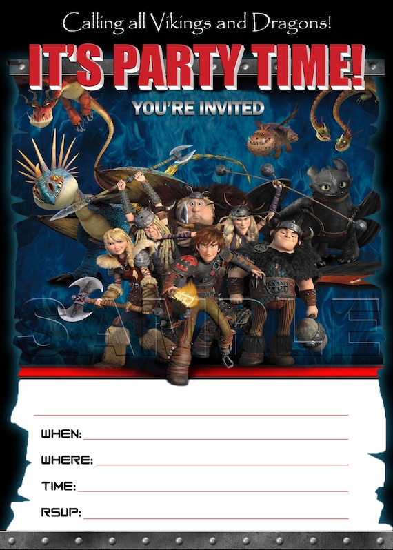 How to Train Your Dragon 2 Birthday Invitation INSTANT