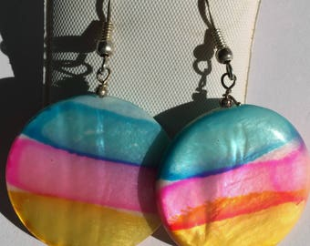 Shell Disc Earrings - Created by Julie Depew