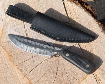 Twisted Snowflake Damascus Knife