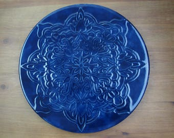 Bloom Mandala Embossed Platter