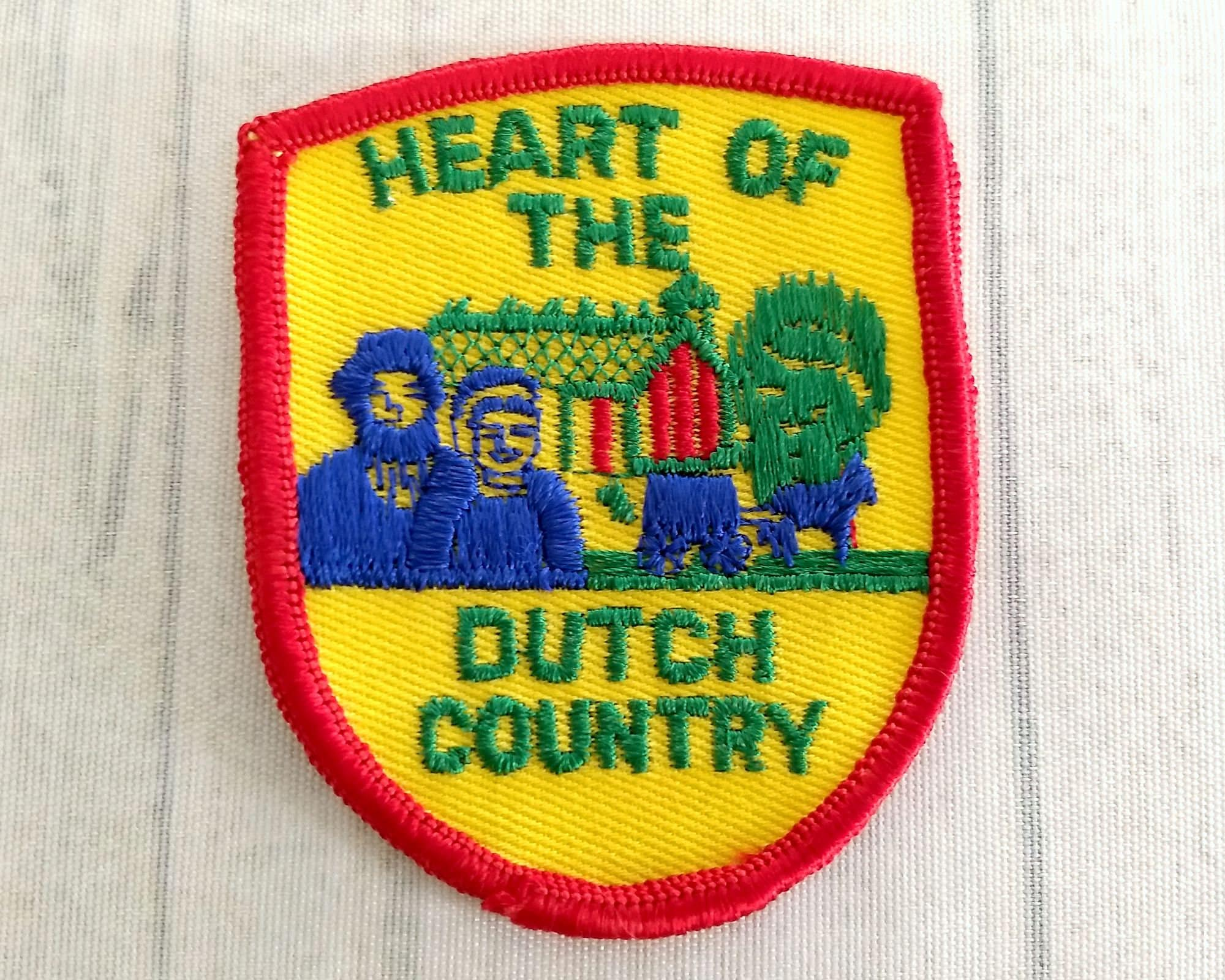 Vintage heart of the dutch country patch 3 amish couple barn sold by retrodreams biocorpaavc Images