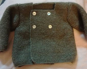 Cardigan with small martingale