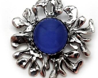Sterling silver sun pendant