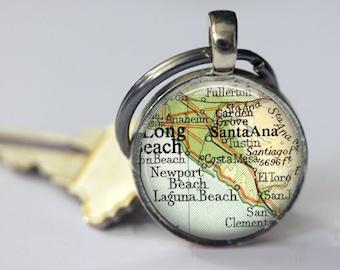 Laguna Beach, Newport Beach Photo Gift, Anaheim, long beach, Mom Keychain, Custom Key Chain, Nana Gifts, Sister Gifts, Aunt Gifts California
