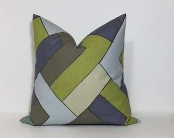 Geometric pillow cover. Robert Allen Rain collection. Modern chevron pillow cover. home decor accent pillow, throw pillows