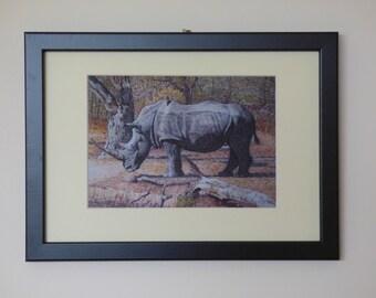 Rhino Prints Framed, Rhino Wall Art, Framed Art Prints, Rhino Art Framed, Animal Wall Art, Rhino Gifts, Africa Framed Print, Rhino Art Print