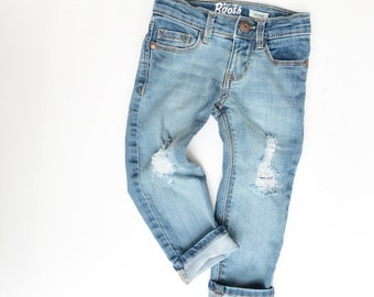 Boys Ripped Jeans Etsy