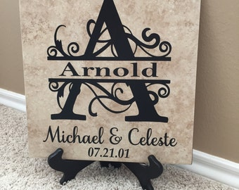 Decorative Tile Personalized Tile Wedding Gift Personalized