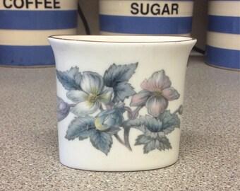 Vintage Royal Worcester Small Posy Vase, Fuschias, Beautiful Design, Quaint Little Vase, Fine Bone China, Gold Leaf Rim, Highly Collectable