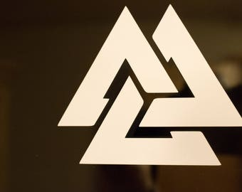 Viking Vinyl Decal - Valknut 1
