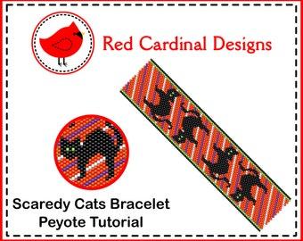 Scaredy Cats Bracelet Peyote Tutorial