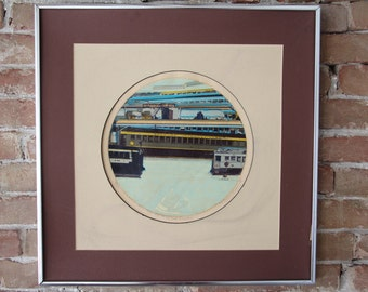 """Thomas Seawell Serigraph """"The 2nd Coaches"""" 78/100"""