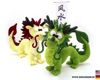 Dragon Long crochet pattern amigurumi
