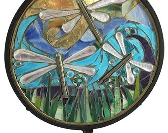 Mosaic Dragonfly Garden Stake