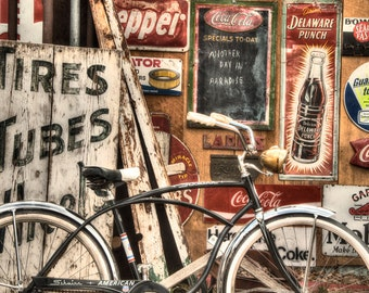 Bicycle Wall art - Rustic Bike - Gift - Santa Fe - Print - Poster -  Photograph - Photo