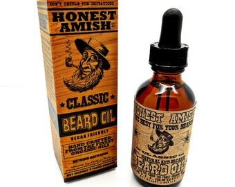 Honest Amish Classic Beard Oil 2 oz