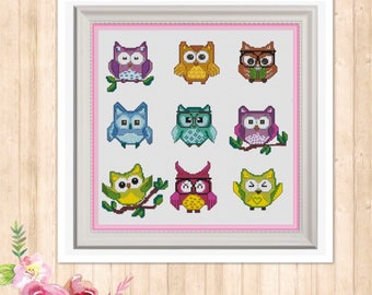 Twit Twoo Counted Cross Stitch Chart