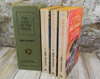 Lord of the Rings First Authorized Edition Paperback Book Set by J.J.R. Tolkien, 1965