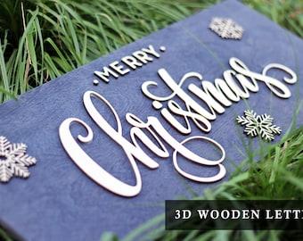 Wood Christmas Decoration handmade, Christmas Gift, Merry Christmas Wood Sign, Holiday Signs, Christmas home Decor, Rustic Christmas Signs