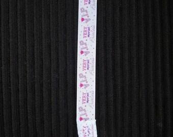 VIP princess pacifier clip