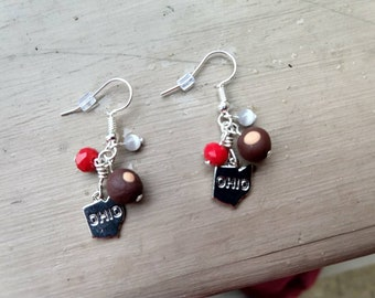 Buckeye Ohio State Earrings