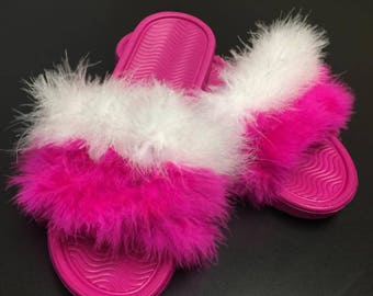 Faux Feathered Slides