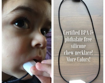 Autism Chewing Necklace, Certified BPA & phthalate free silicone chew necklace, chewable necklace, chewing necklace, fidget necklace, autism