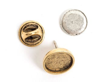 Jewelry Kit for Embroidery Lapel Pin Mini Circle - Gold