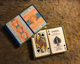 Vintage Congress Shell double deck playing cards