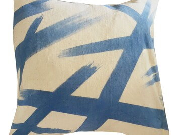 MUDCLOTH pillow cover - blue Wearstler