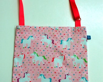 Washable, Eco-Friendly Car Trash Bag in Unicorn Fabric