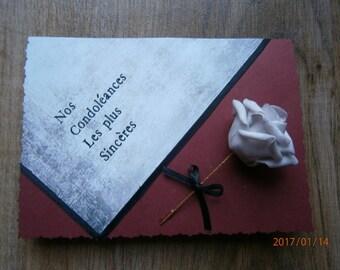 """""""Our heartfelt condolences"""" sympathy card"""