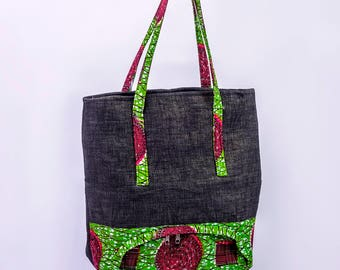 African Print Shopping Bag