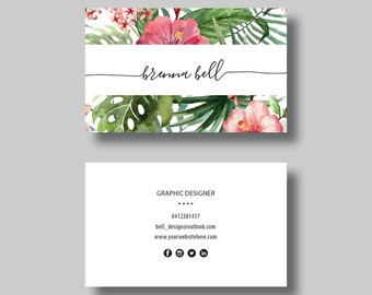 Business Card (Tropical) - Digital Design