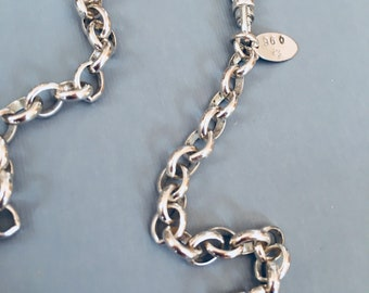 THE FINEST SILVER- on the market - 960 Argentium® Silver 5.9 x 7.4 mm Belcher Rolo Chain, By The Foot.