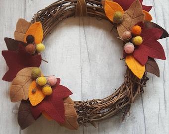 Autum felt wreath
