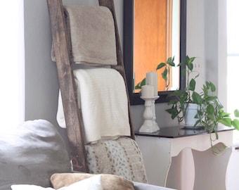 Blanket ladder, Rustic home decor color: Espresso