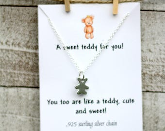 Teddy Bear Necklace - Bear Jewelry