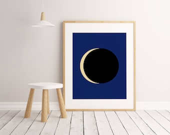 Eclipse Print, Kids Room Decor, Kids Room Art, Kids Room Wall Art, Kids Room Poster, Printable Wall Art