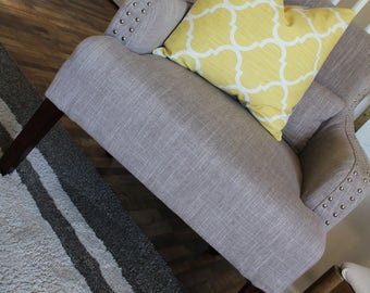Yellow Pillow Cover | Yellow Modern Pillow Cover | Colorful Farmhouse Pillow Cover | Spring Pillow Cover | Yellow and Gray Pillow Cover
