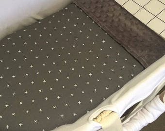 Bassinet / Pram Blanket - Charcoal - Baby shower gift