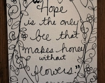 Hope is the Only Bee - Original, One of a Kind Painting Page