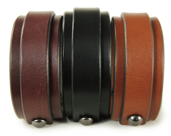Premium Italian Leather Cuff - One Stroke