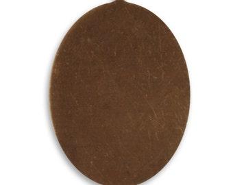 4 pieces Brass Oval Blank Pendant, Vintaj Natural Brass P0043